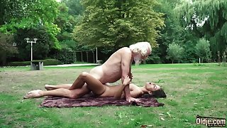 70 yr senior granddad pulverizes legitimate yr elder cissified wails and aroused