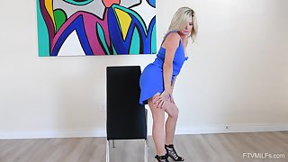 Sweet mature reveals her slutty side in soft CFNM solo