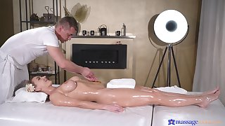 Trimmed pussy blondie Elen Million gets her pussy fucked hard