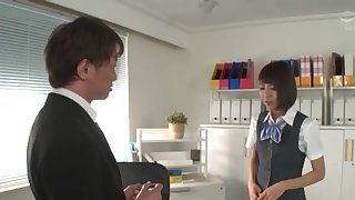 Hot ass Japanese unreserved Harusaki Ryou spreads say no to legs to ride
