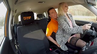 Second-rate babe Marilyn Sugar gets fucked away from the instructor to pass the test