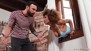 BRAZZERS: Jogging His Memory With Her Pussy - Demi Sutra, Ebony Mystique on PornHD