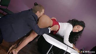 Pantless TV babe Amia Miley is fucked by hot tramp Xander Corvus