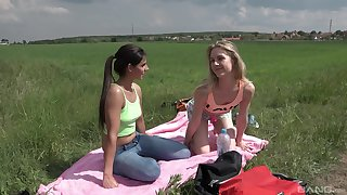 Outdoor lesbian sex is unforgettable experience for Alecia Fox