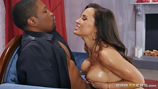 Lisa Ann loves all different sex poses with her horny and black friend