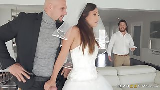 crazy and wild bride Kelsi Monroe enjoys hardcore fuck with a stranger