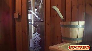 German Teen in the sauna