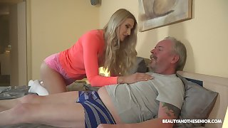 Young blond nympho Diane Chrystall is eager for old wrinkled dick of their way new lover