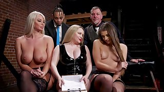 Aiden Starr is a masterful sexy mistress who gets retire from on clashing slaves