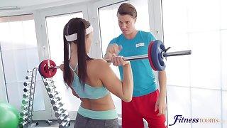 Wild FFM triad near the gym back Barbara Bieber and Candice Demellza